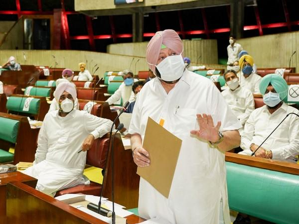 Punjab Chief Minister Captain Amarinder Singh in the state assembly on Friday.