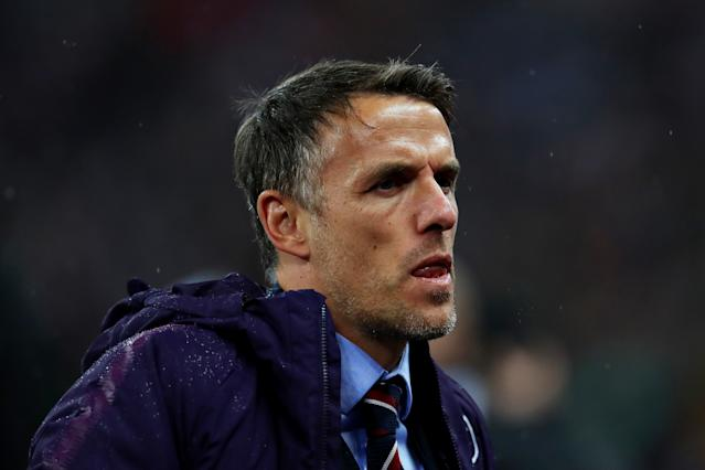 England Head Coach Phil Neville (Credit: Getty Images)
