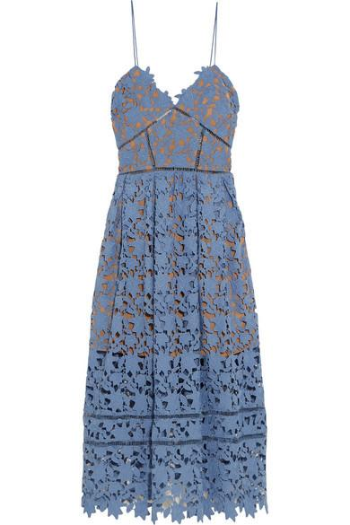 "<p>You can't go wrong with a classic lace dress. This versatile blue number could be dressed up for the night or down for the day. [<i><a href=""https://www.net-a-porter.com/gb/en/product/682234/self_portrait/azaelea-guipure-lace-dress"">Self-Portrait, £240]</a></i></p>"