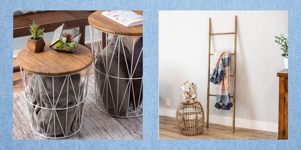 """<p>You can never have too many <a href=""""https://www.thepioneerwoman.com/home-lifestyle/decorating-ideas/g34820901/best-throw-blankets/"""" rel=""""nofollow noopener"""" target=""""_blank"""" data-ylk=""""slk:throw blankets"""" class=""""link rapid-noclick-resp"""">throw blankets</a>—they're the perfect gift for any occasion and they look just as great on a bed as they do draped over a chair or sofa. Ree Drummond feels the same way: """"My mother-in-law and I used to give each other quilts for Christmas—you can never have just one,"""" she says. The only problem is that eventually, when you collect so many throws, you need to find some good blanket storage ideas.</p><p>Everyone is trying to <a href=""""https://www.thepioneerwoman.com/home-lifestyle/decorating-ideas/g32894699/laundry-room-ideas/"""" rel=""""nofollow noopener"""" target=""""_blank"""" data-ylk=""""slk:maximize space"""" class=""""link rapid-noclick-resp"""">maximize space</a>, so first you need to decide what kind of storage you need. Are you looking for seasonal space-savers to get blankets out of the way once the weather warms up? Hidden storage like under-the-bed bins or storage ottomans are perfect for that purpose. If you'd like your blankets always at the ready (but not piled up on your sofa), try hanging them on the back of a door or stashing them inside a glass cabinet or on a rack. If you're a major blanket collector, you're probably going to have some that you want to really show off. There are display options here, too, so you can showcase your favorite blanket or throw with pride. Take a look at these 15 products and ideas and maybe even splurge on a <a href=""""https://www.thepioneerwoman.com/home-lifestyle/g34484668/best-heated-blankets/"""" rel=""""nofollow noopener"""" target=""""_blank"""" data-ylk=""""slk:heated blanket"""" class=""""link rapid-noclick-resp"""">heated blanket</a>, now that you know where to put it! <br></p>"""