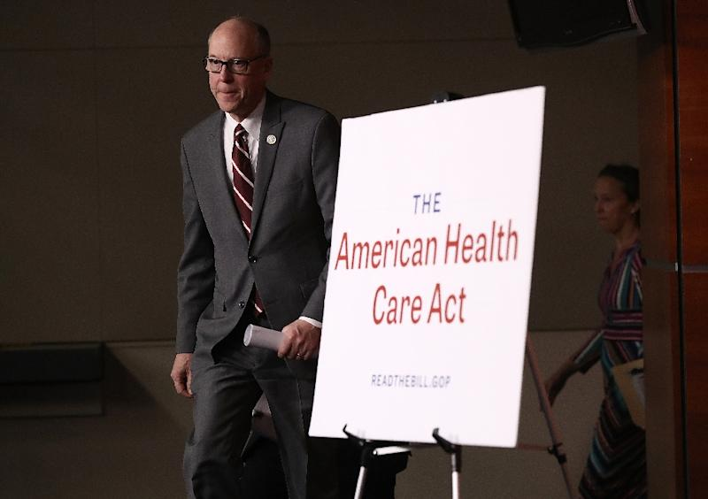 House Energy and Commerce Chairman Greg Walden arrives for a news conference on the newly announced American Health Care Act at the U.S. Capitol March 7, 2017 in Washington, DC (AFP Photo/WIN MCNAMEE)