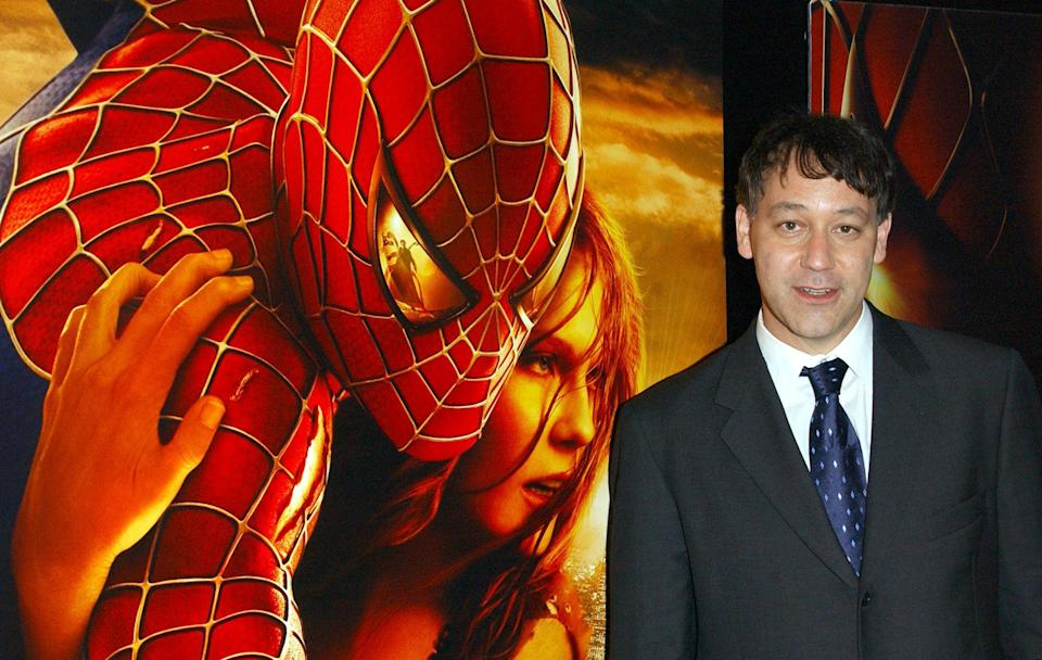 Director Sam Raimi arrives for the UK gala premiere of Spider-Man 2 at the Odeon Leicester Square, in central London.