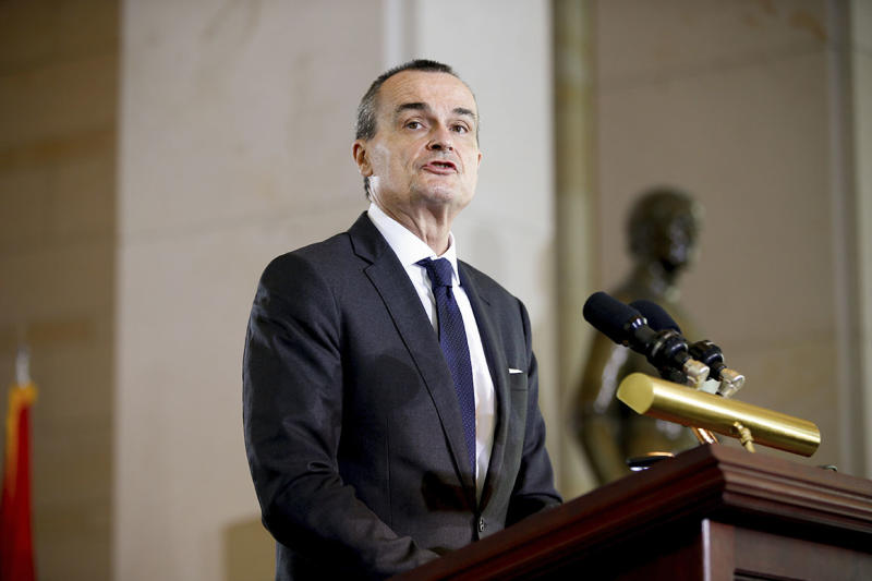 Former French ambassador to the U.S. Gerard Araud speaks at Capitol Hill in April 2015. Araud said foreign diplomats didn't expect President Donald Trump's election in 2016, and