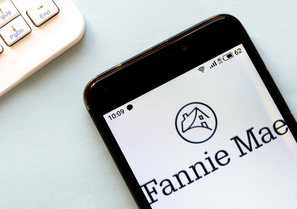 UKRAINE - 2020/03/20: In this photo illustration a Fannie Mae logo seen displayed on a smartphone. (Photo Illustration by Igor Golovniov/SOPA Images/LightRocket via Getty Images)