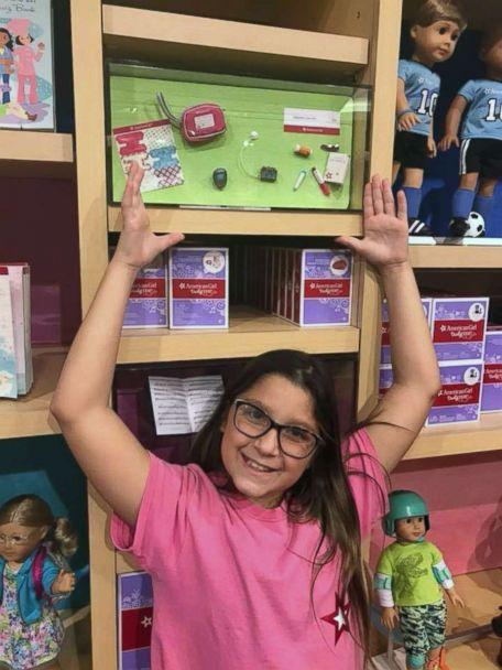 PHOTO: Bella Fricker, 11, of Georgia, raises money to buy American Girl dolls. She then visits hospitals and gives them to children fighting cancer. (Valerie Fricker/Peace Love Bracelets Foundation)