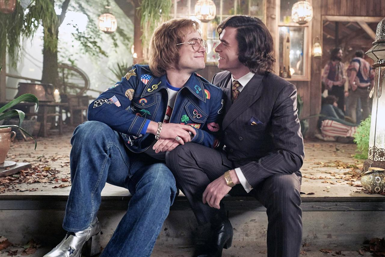 """<p> <strong><a href=""""https://www.popsugar.com/entertainment/Rocketman-Trailer-45329593"""" class=""""ga-track"""" data-ga-category=""""Related"""" data-ga-label=""""http://www.popsugar.com/entertainment/Rocketman-Trailer-45329593"""" data-ga-action=""""In-Line Links"""">Rocketman</a></strong> won awards for its incredible acting and styling, but its hot sex scene by far deserves an award of its own. It was the first onscreen gay male sex scene in a major studio release, and wow, is it intimate. </p>"""