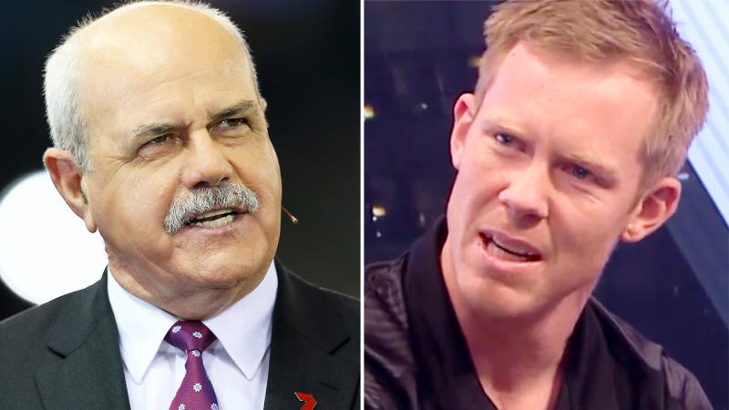 Jack Riewoldt, pictured here firing back at Leigh Matthews after criticism from the AFL legend.