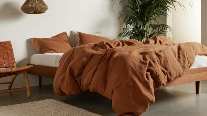 Linen duvet covers will last for decades, making them a worthwhile investment.