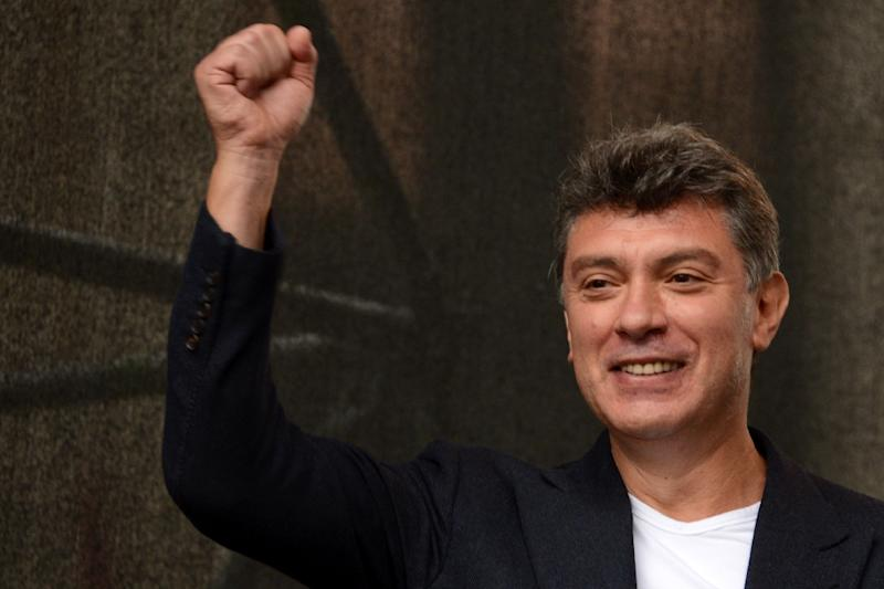 Opposition leader Boris Nemtsov during an anti-Putin protest in central in Moscow on September 15, 2012 (AFP Photo/Kirill Kudryavtsev)