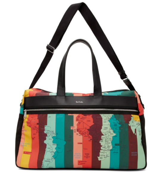 Paul Smith Ssense exclusive multicolor travel duffle, 56% off. US$266 (was US$604.55). PHOTO: Ssense