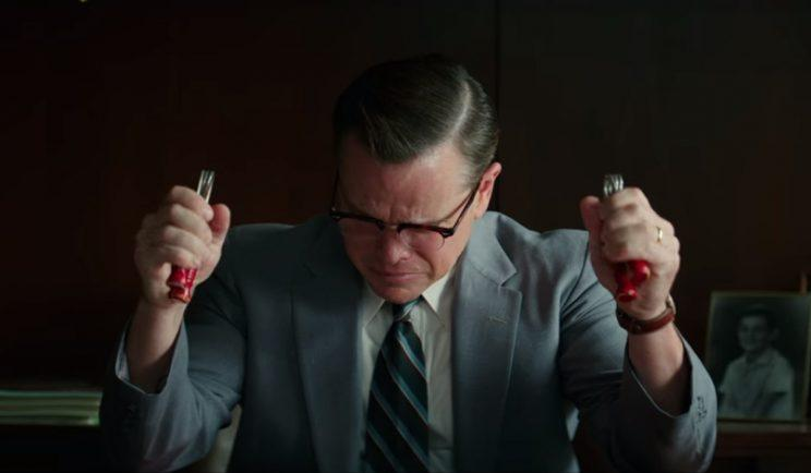 Matt Damon loses it in Suburbicon - Credit: Paramount