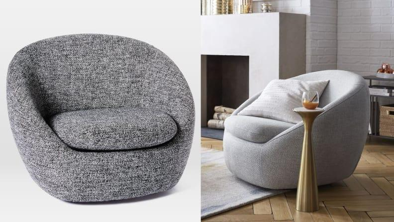 You'll want to spin and spin in this comfy chair.