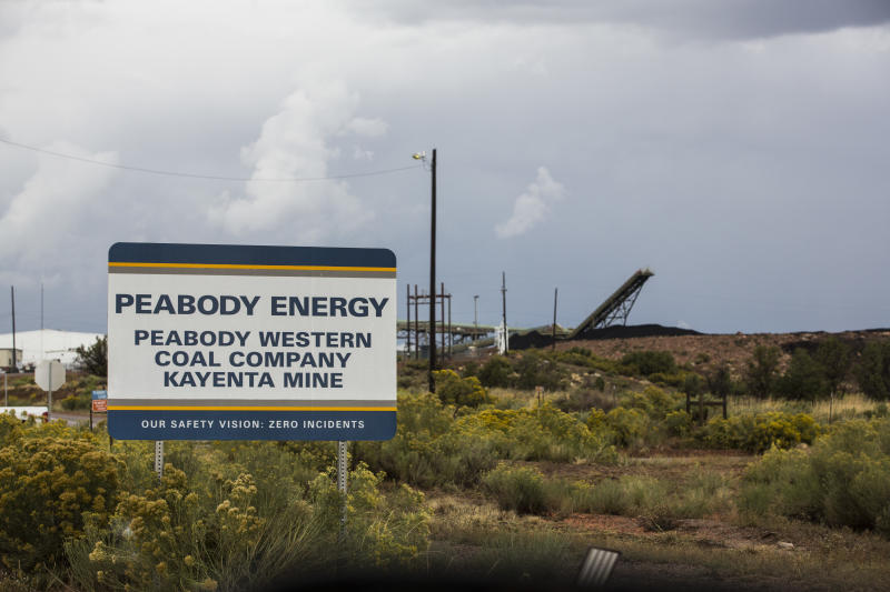 Peabody Coal mines are seen in Black Mesa, Arizona. (Nick Oza for HuffPost)