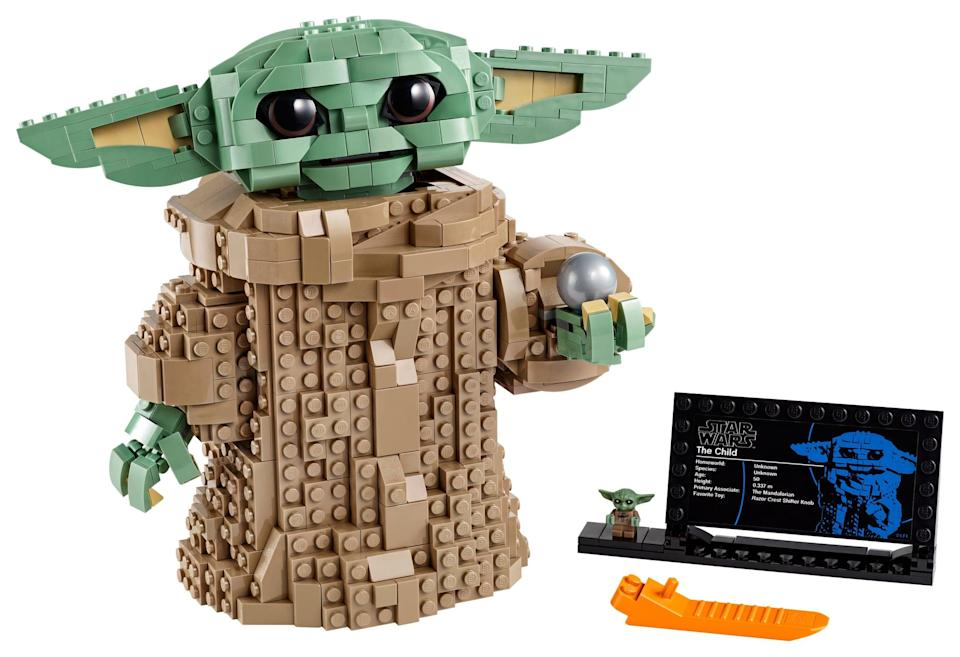 <p>The <span>Lego Star Wars The Child Set</span> ($80, available for preorder and out on Oct. 30) has 1,073 pieces and is intended for kids ages 10 and up (<span>see more details about the set here</span>!).</p>