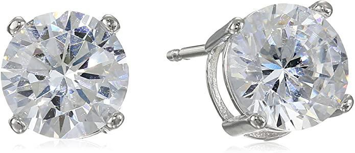 Amazon Essentials Plated Sterling Silver Cubic Zirconia Studs (Photo: Amazon)
