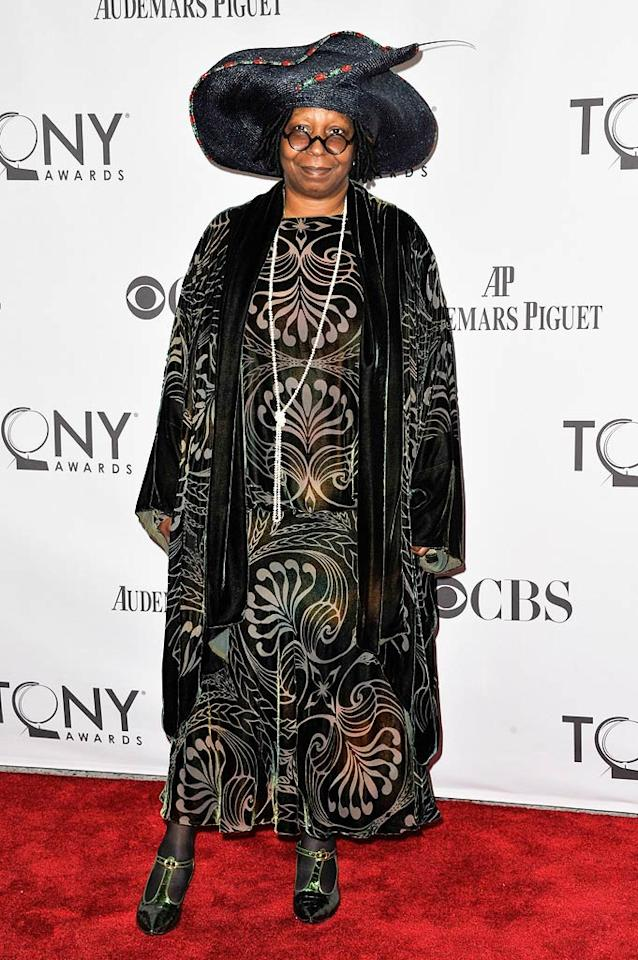6. Oscar winner Whoopi Goldberg -- in a seizure-inducing muumuu and equally hideous headpiece -- at the 65th Annual Tony Awards. (6/12/2011)