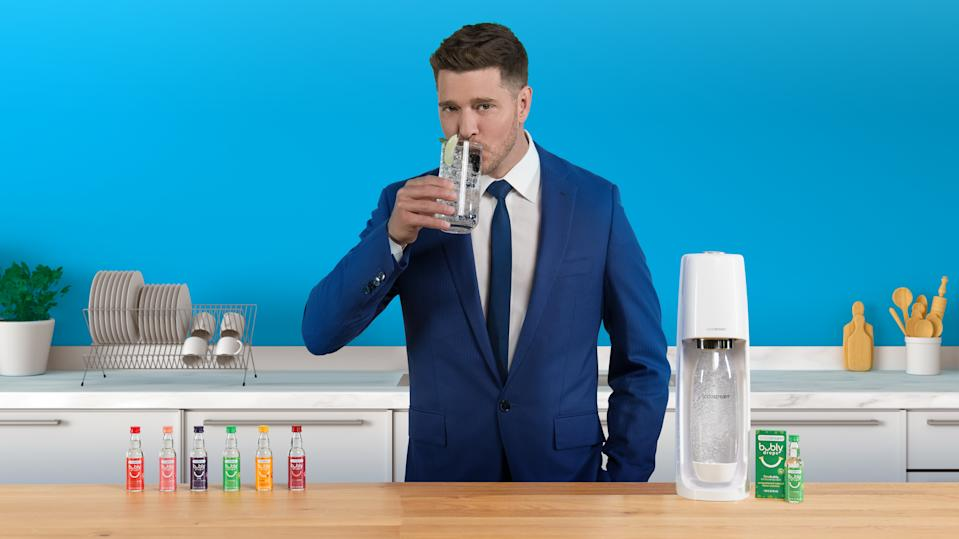 Sodastream launches new bubly drops, alongside the debut of Michael Bublé Commercial. (Courtesy: Sodastream)