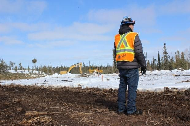 Clarence Pyke, the production manager for the Nechalacho demonstration project, looks out over an expanse on Thursday that'll soon turn into the mine's pit.