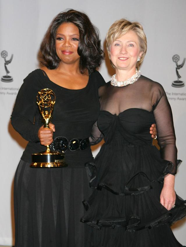 Winfrey and Hillary Clinton in 2005. (Photo: Getty Images)