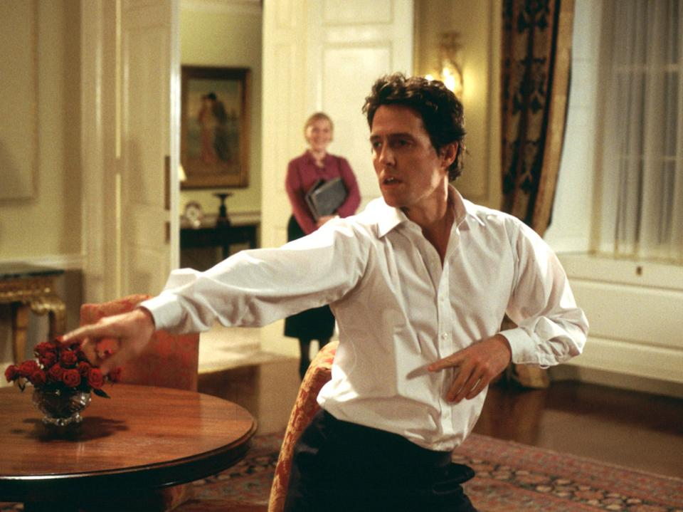 Hugh Grant in Love Actually (Universal/Dna/Working Title/Kobal/REX)