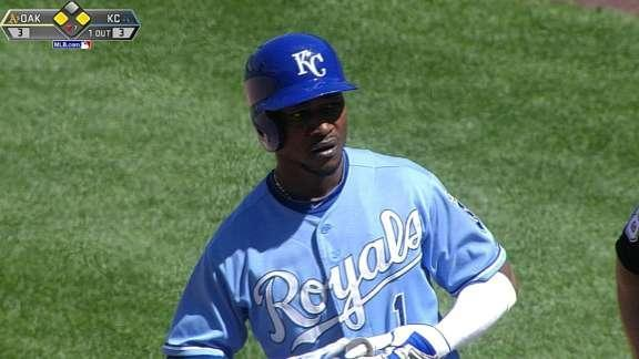 Surging Royals rally past A's for 7-3 win
