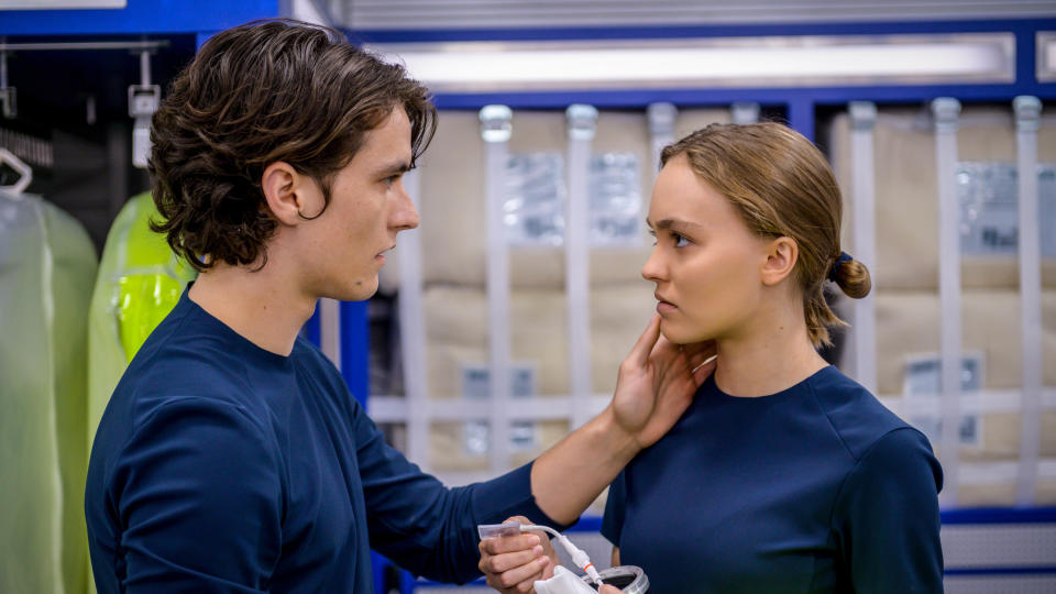 Fionn Whitehead and Lily-Rose Depp star in sci-fi adventure 'Voyagers'. (Lionsgate/Sky Cinema)