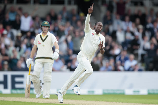 Archer was even better in the following Test, taking six wickets to bowl Australia out. (AP Photo/Jon Super)
