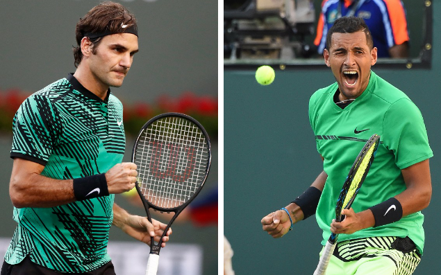 <span>Roger Federer was due to play Kyrgios in the quarter-finals at Indian Wells</span>