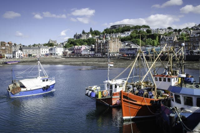 Fishing boats and town, Oban, Scotland