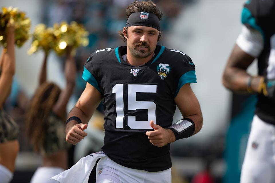 The 'stache is back: Jacksonville coach Doug Marrone announced rookie QB Gardner Minshew will start this week vs. the Chargers. (David Rosenblum/Icon Sportswire via Getty Images)
