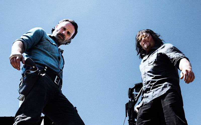 Andrew Lincoln and Norman Reedus in The Walking Dead - AMC