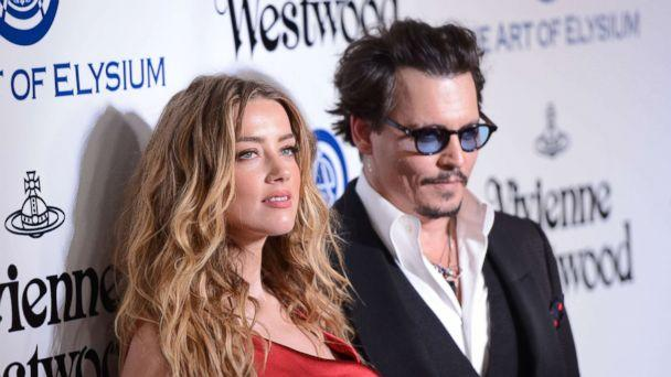 PHOTO: Amber Heard and Johnny Depp attend the Art of Elysium 2016 HEAVEN Gala in this Jan. 9, 2016 file photo in Culver City, Calif. (C Flanigan/Getty Images)