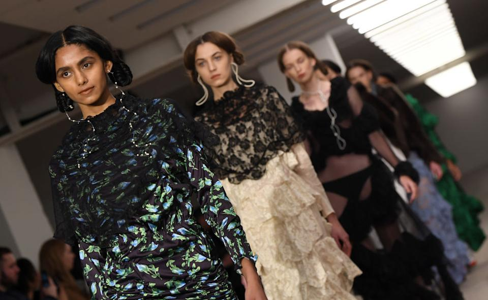 Yuhan Wang overcame any struggles concerning the virus outbreak to kick of LFW (Getty)