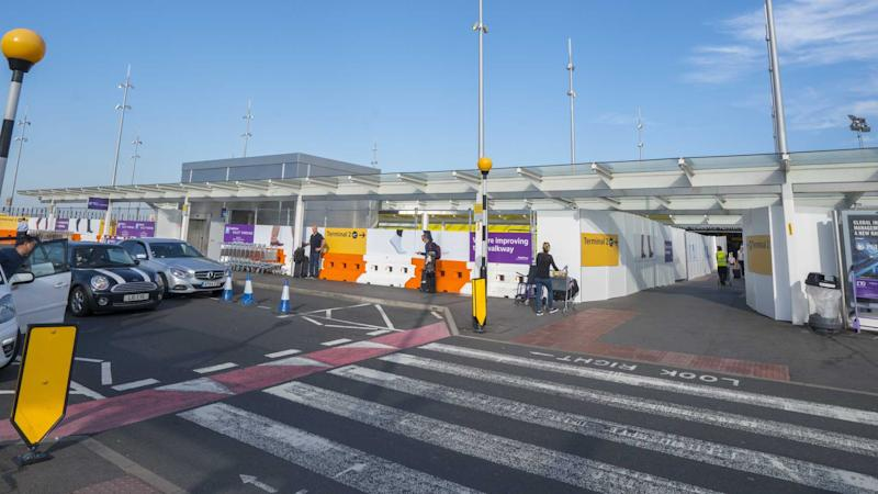 Passenger pick up and drop off zone at London Heathrow airport
