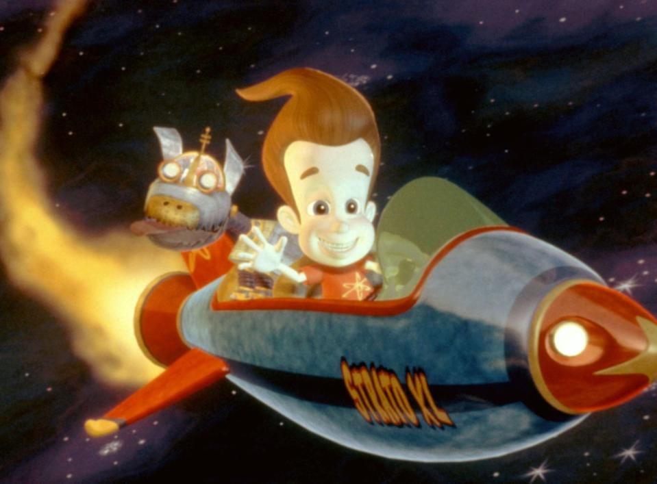 """<p><strong>Netflix's Description:</strong> """"When gooey green aliens kidnap all the adults in Retroville, it's up to 11-year-old Jimmy Neutron to come up with a plan to rescue them.""""</p> <p><a href=""""https://www.netflix.com/title/60021788"""" class=""""link rapid-noclick-resp"""" rel=""""nofollow noopener"""" target=""""_blank"""" data-ylk=""""slk:Stream Jimmy Neutron Boy Genius on Netflix!"""">Stream <strong>Jimmy Neutron Boy Genius</strong> on Netflix!</a></p>"""