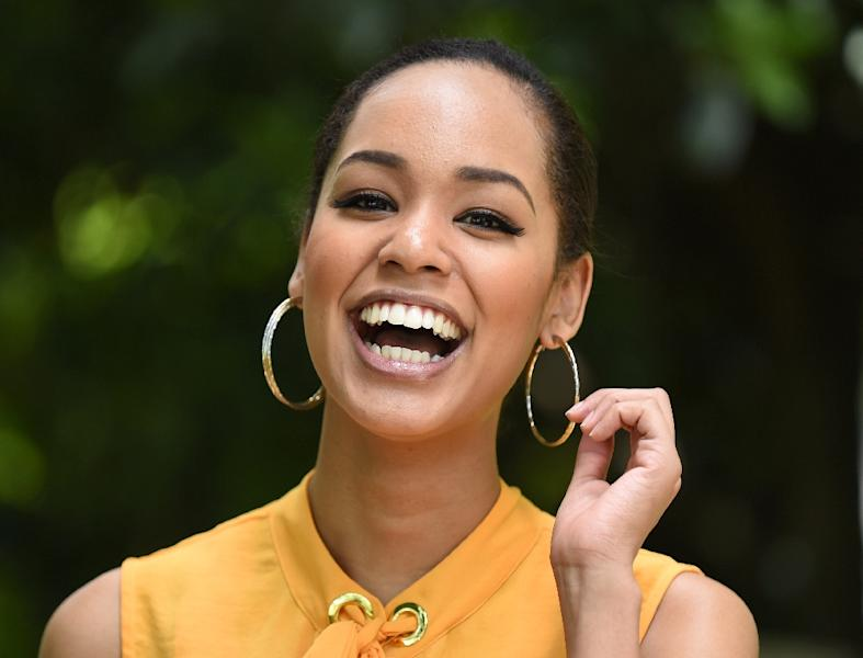 """I used to get bullied as a kid but I've got mentally stronger, to protect myself,"" says Miss Universe Japan Ariana Miyamoto, whose first language is Japanese (AFP Photo/Toru Yamanaka)"
