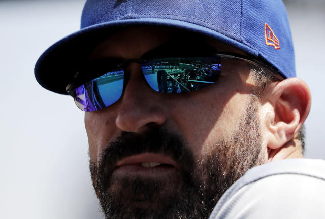 Mickey Callaway was fined for his actions. (AP Photo/Nam Y. Huh)