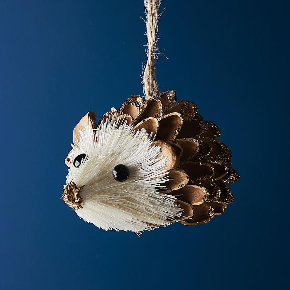 <p>If you want your Christmas tree to reflect the wildlife and great outdoors, opt for this pinecone hedgehog bauble.</p>