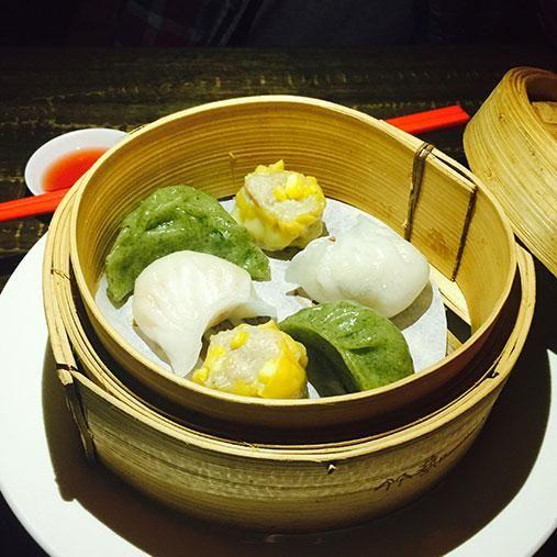 All your dumpling faves in one little bamboo steamer. Photo: Be