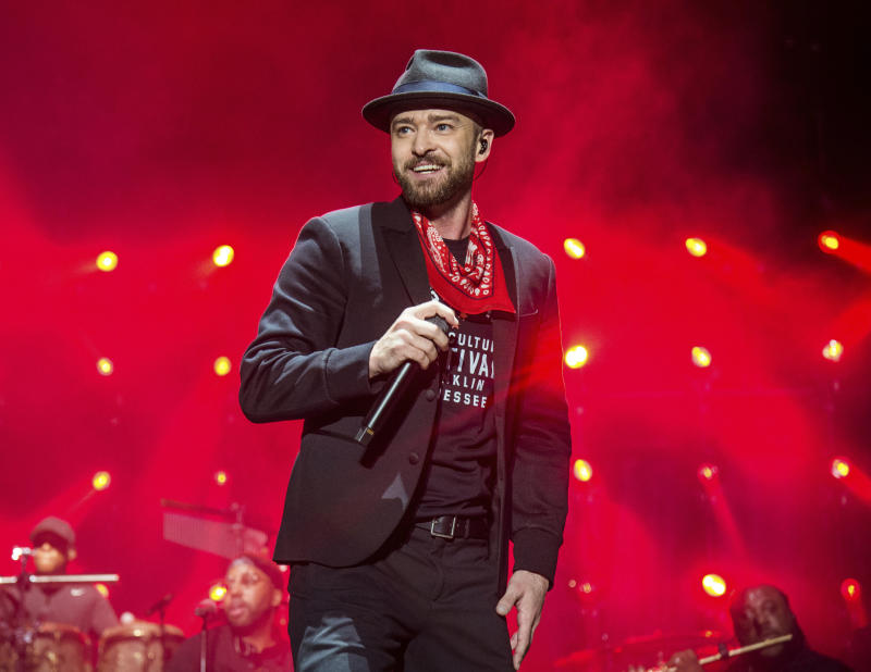 Justin Timberlake is Sunday's halftime performer at the Super Bowl. (AP)