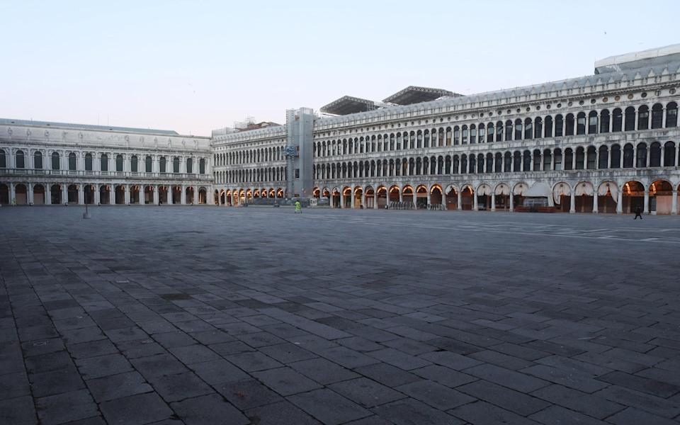 Piazza San Marco during lockdown - Getty