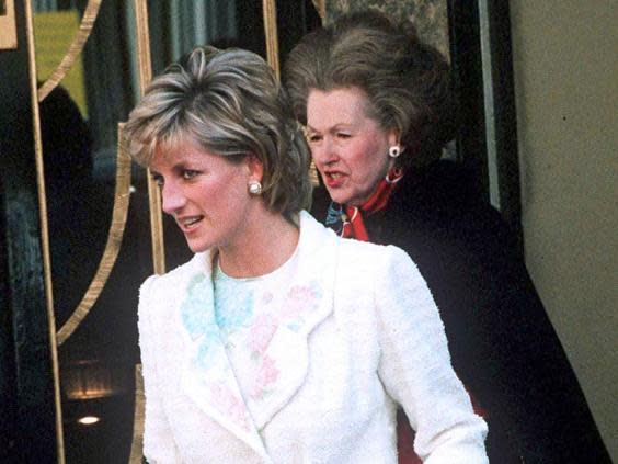 Diana, Princess of Wales with Raine Spencer, Countess Spencer (Rex Features)