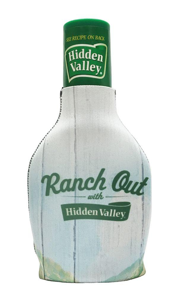 "Buy the <a href=""https://www.flavourgallery.com/collections/hidden-valley-ranch/products/hidden-valley-bottle-cozie"" target=""_blank"">Hidden Valley bottle coozie</a> for $20"