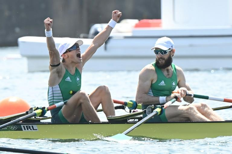 Fintan McCarthy (L) and Paul O'Donovan (R) won Ireland's first ever Olympic rowing gold medal