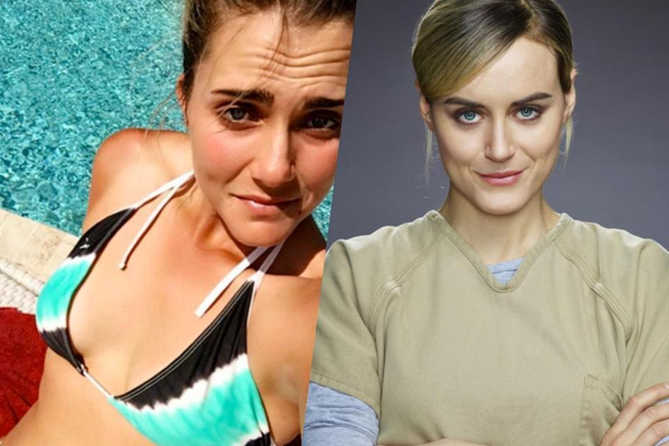 <p>American golfer Lexi Thompson (left) and Orange is the New Black star Taylor Schilling (right). </p>