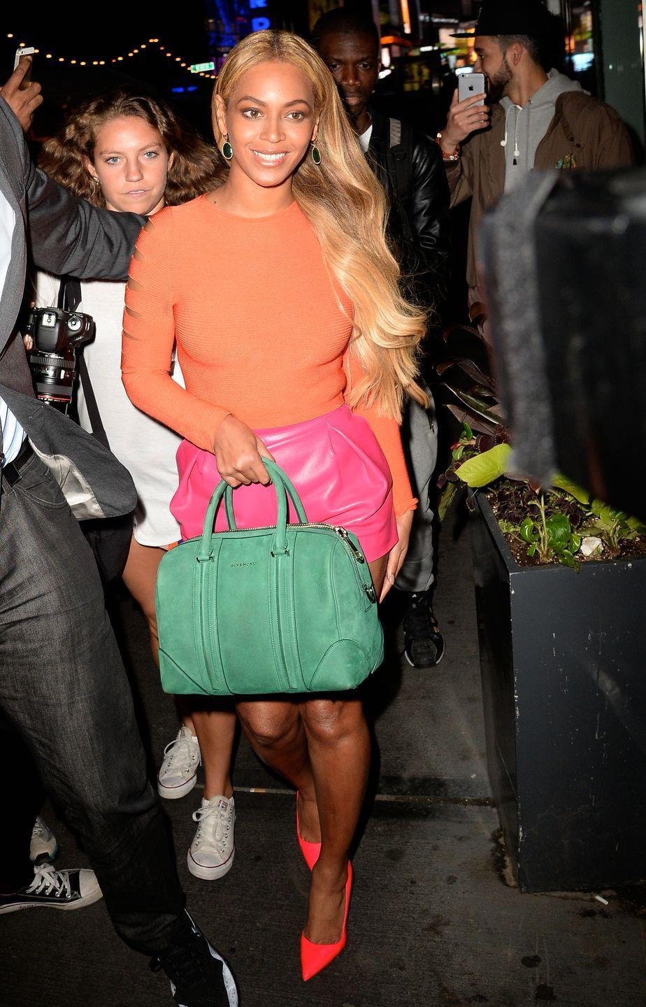<p>This design was similar to a bowling bag with its rounded edges, but it launched into stardom when Beyoncé carried a colorful version of it in 2015. Even with all the other bright colors Bey wore, it was the item that stole the spotlight. </p>