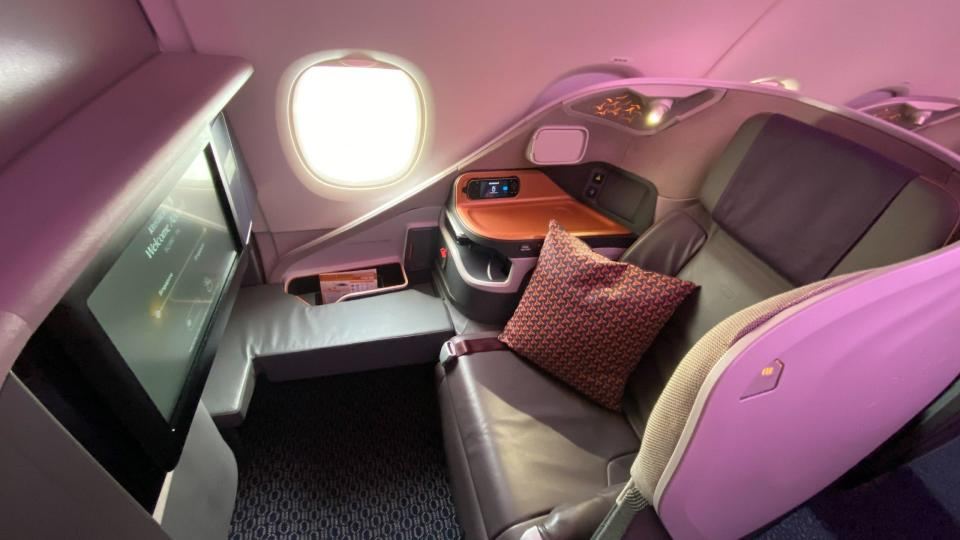 One of the single business class seats on the side. Photo: Coconuts
