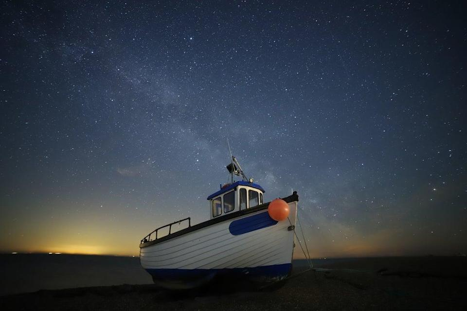 Fair Chance Of Stars, taken on Dungeness by Susan Pilcher is the Ships and Wrecks category highly commended image (Susan Pilcher/PA) (PA Media)