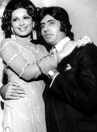 Parveen with Amitabh Bachchan in Majboor