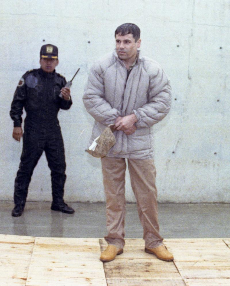 "Joaquin Guzman Loera, alias ""El Chapo Guzman,"" is shown to the press after his arrest at the high security prison of Almoloya de Juarez, on the outskirts of Mexico City June 10, 1993. Guzman was included in Forbes last list of billionaires. The magazine estimates his worth at $1 billion, number 701 on the list. (AP Photo/Damian Dovarganes)"